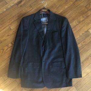Men's Nautica charcoal grey pinstripe suit